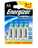 Батарейка ENERGIZER MAXIMUM  AA R /3+1 шт/